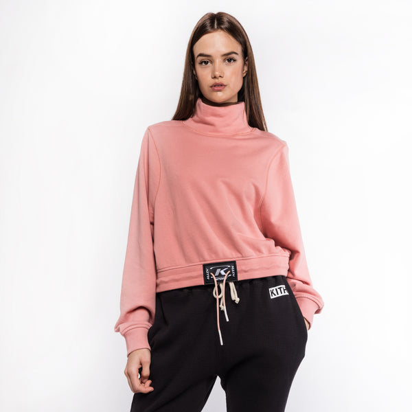 Kith Carine Funnel Neck Top - Dusty Pink