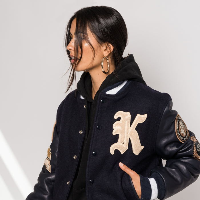 Kith x Golden Bear Logo Varsity Jacket - Navy