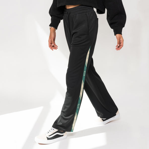 Kith Kaia Wide Leg Trackpant - Black