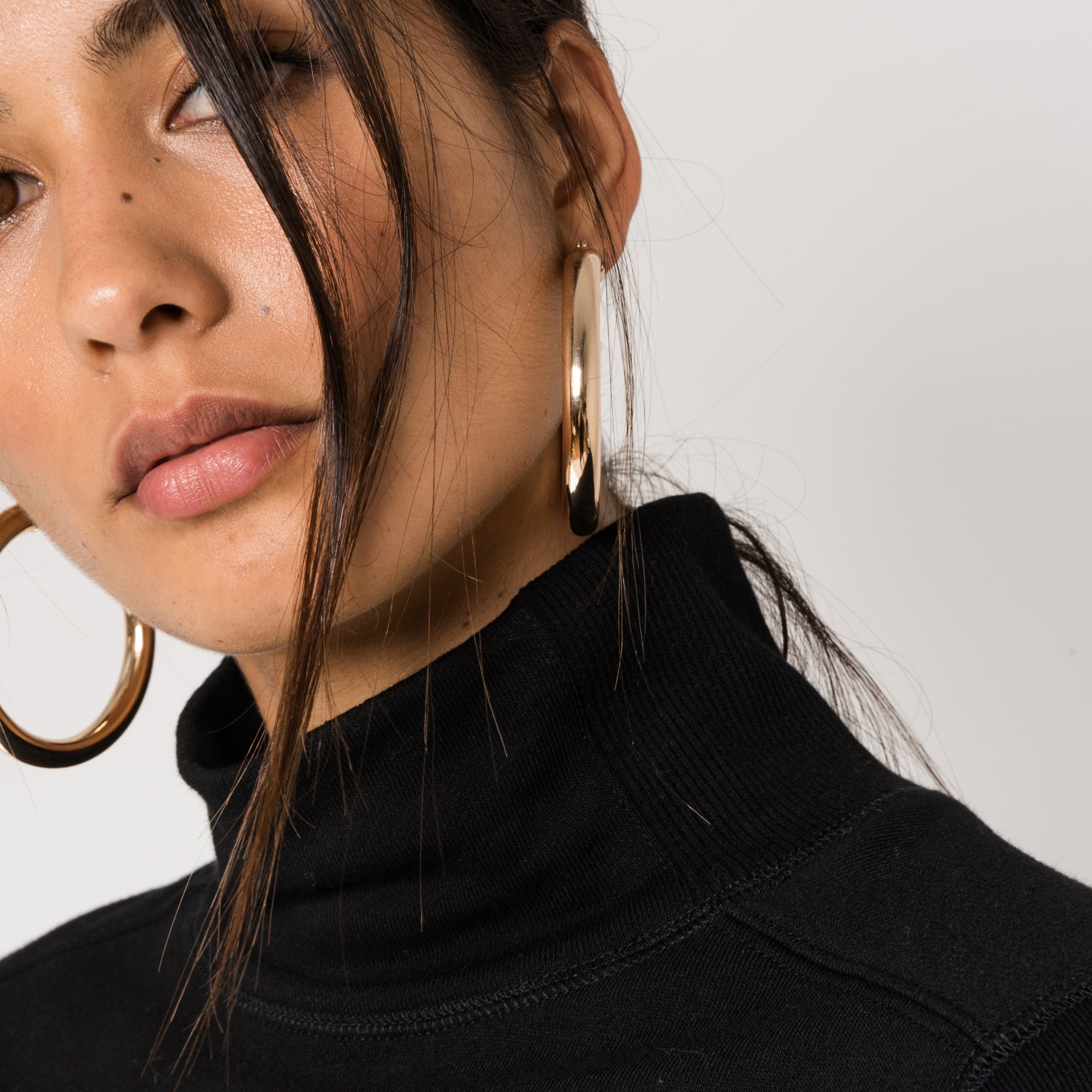 Kith Carine Funnel Neck Top - Black
