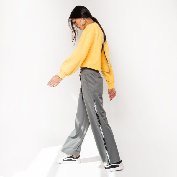 Kith Kaia Wide Leg Trackpant - Steel Grey