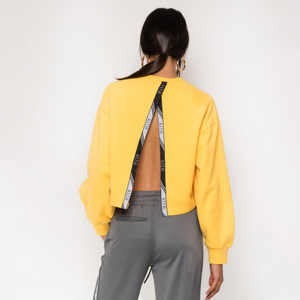 Kith Anja Open Back Crewneck - Yellow