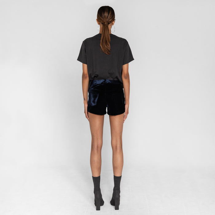 Unravel Project Velvet Lace-Up Shorts - Blue