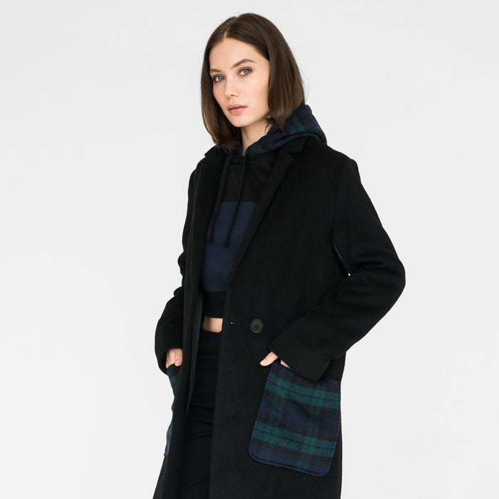 Kith Women Eva Long Coat - Black