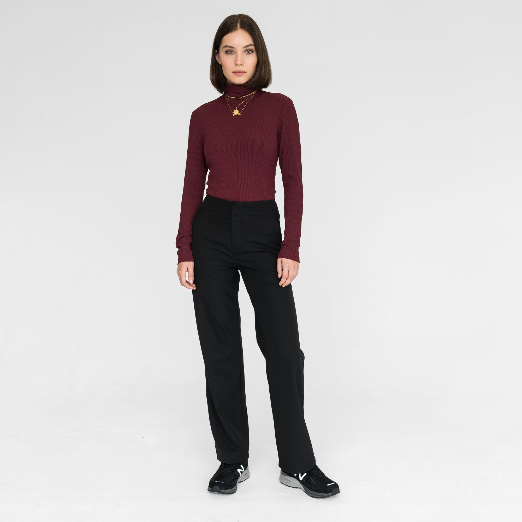 Kith Women Brynn L/S Turtleneck - Wine