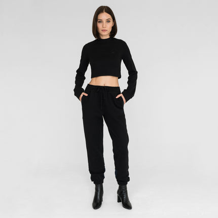 Kith Women Ellison Cropped Mock Neck - Black