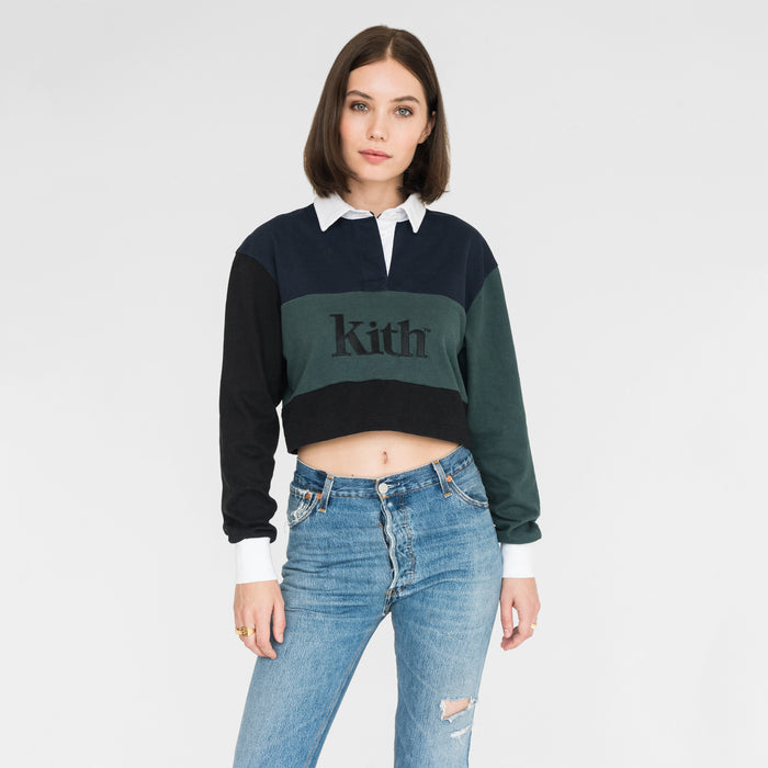 Kith Women Mia Color Blocked Rugby L/S - Navy Blazer