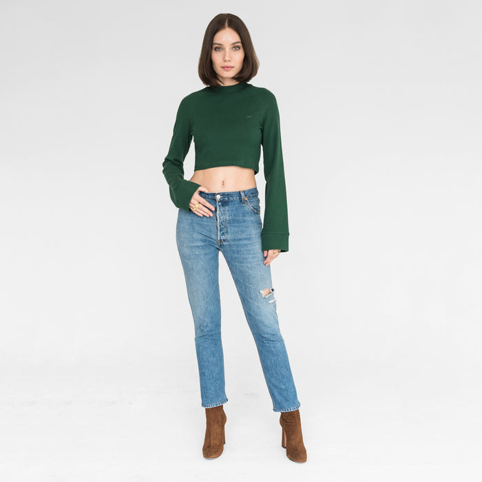 Kith Women Ellison Cropped Mock Neck - Clover