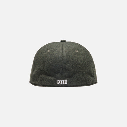 Kith Wool Fitted Cap - Olive