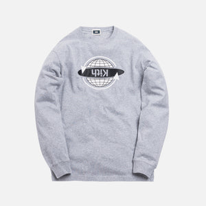 Kith Worldwide L/S Tee - Heather Grey