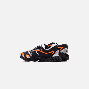 Y-3 Runner 4D - Black / Orange / Silver Image 5