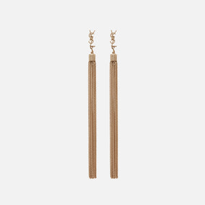 Saint Laurent YSL Tassel Earrings - Gold