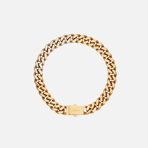 Saint Laurent Gourmette Chain Necklace - Light Gold / Brass
