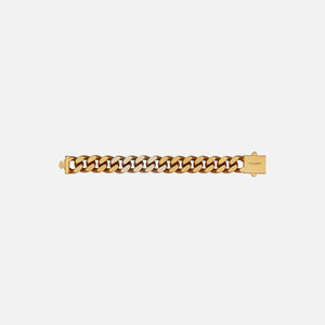 Saint Laurent Gourmette Chain Bracelet - Light Gold / Brass