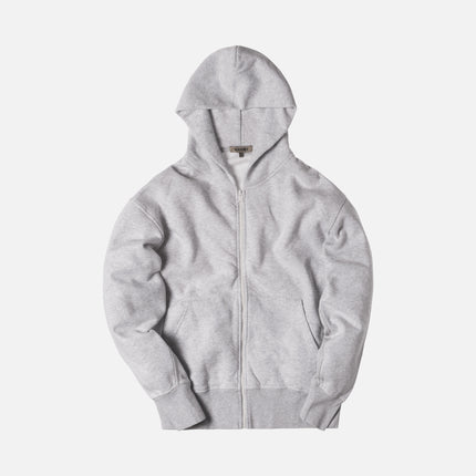 Yeezy Boxy Fit Zip-Up Hoodie - Melange Grey