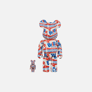 BearBrick Andy Warhol Brillo 400% + 100%