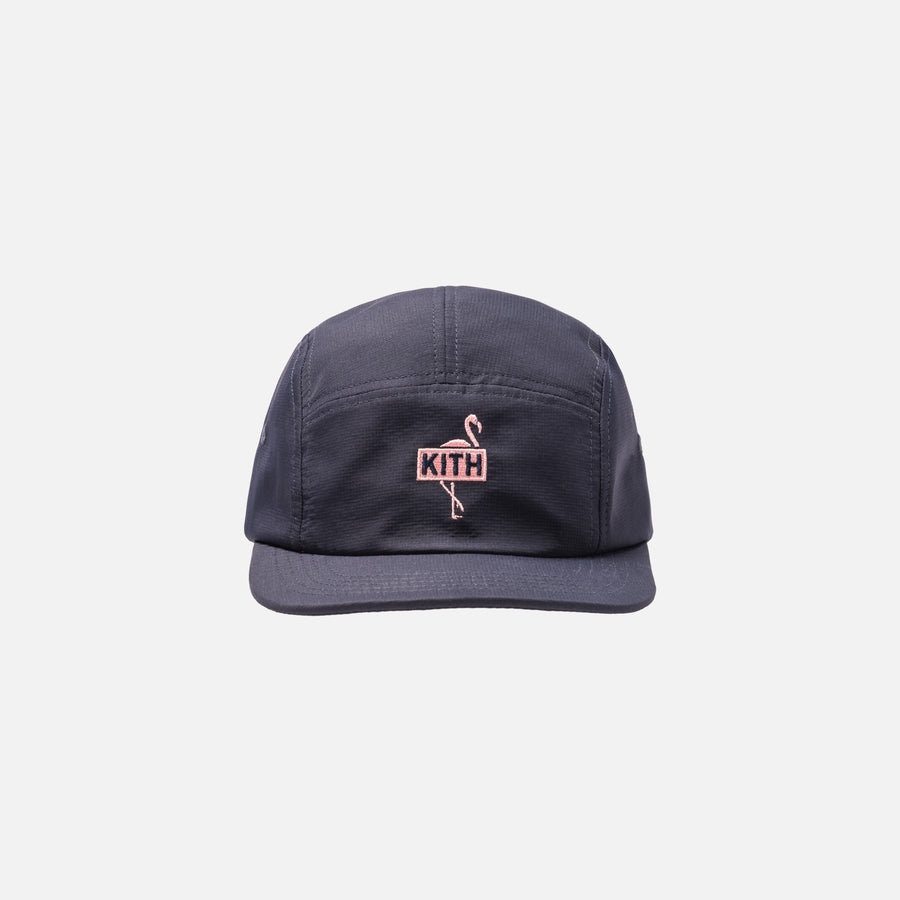 9e063d65741ad SOLD OUT. Kith Flamingo Camp Cap - Navy