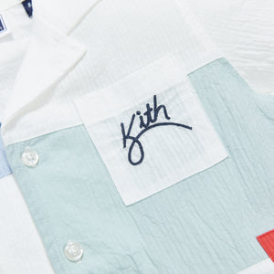 Kith Kids Shay Seersucker Shirt - White / Multi Image 3