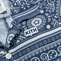 Kith Kids Baby Shay Seersucker Coverall - Navy / Multi Thumbnail 1