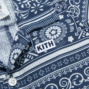 Kith Kids Baby Shay Seersucker Coverall - Navy / Multi Image 3