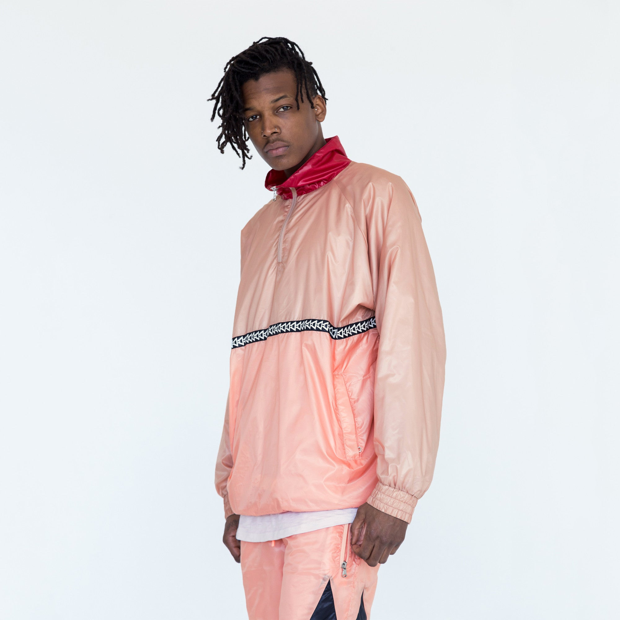 Kith Powell Windbreaker - Ash Pink