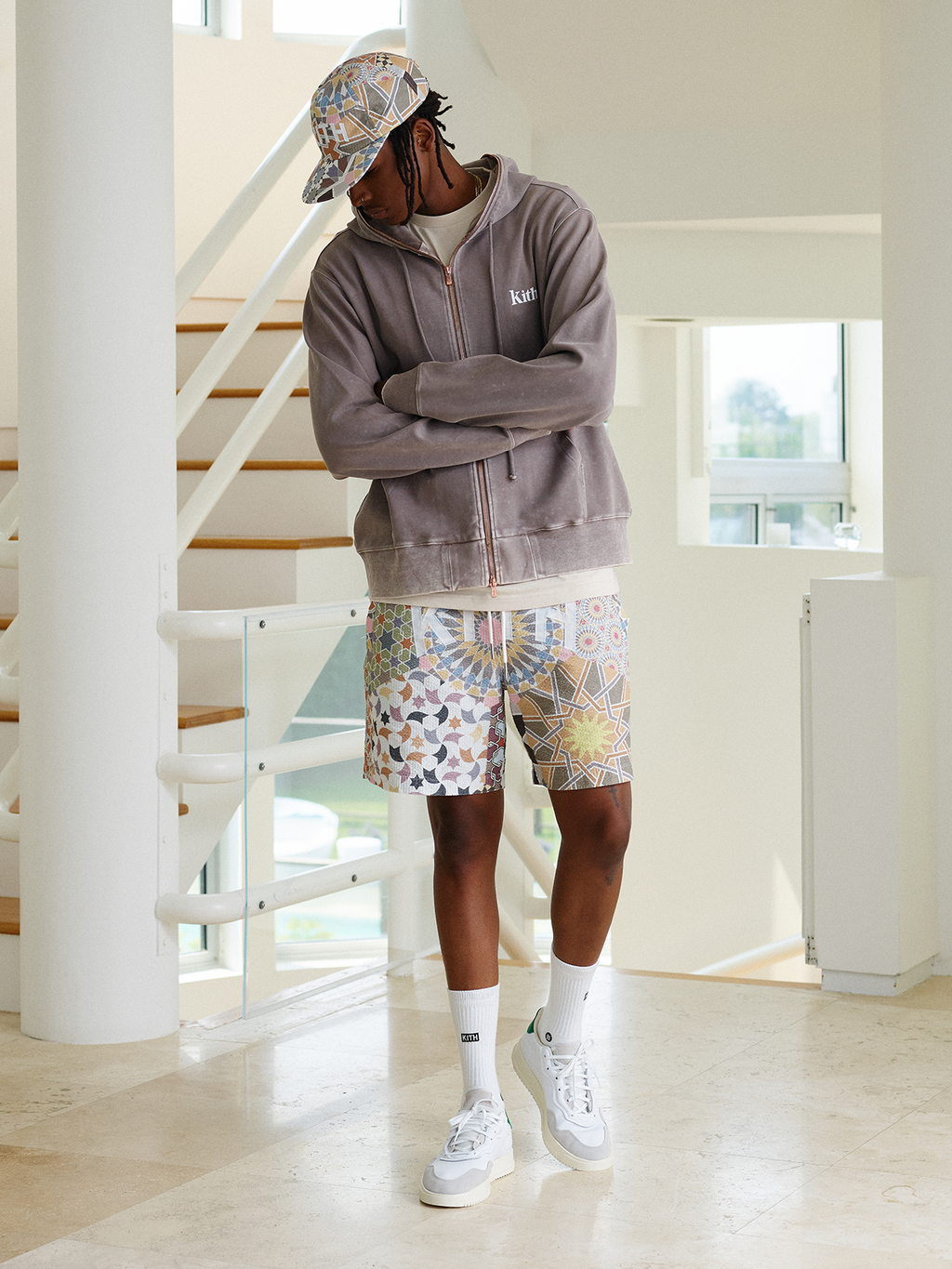 Kith Williams Crystal Wash Hoodie - Cinder-look