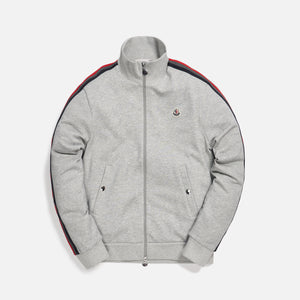 Moncler Maglia Zip Up Cardigan Track Jacket - Grey