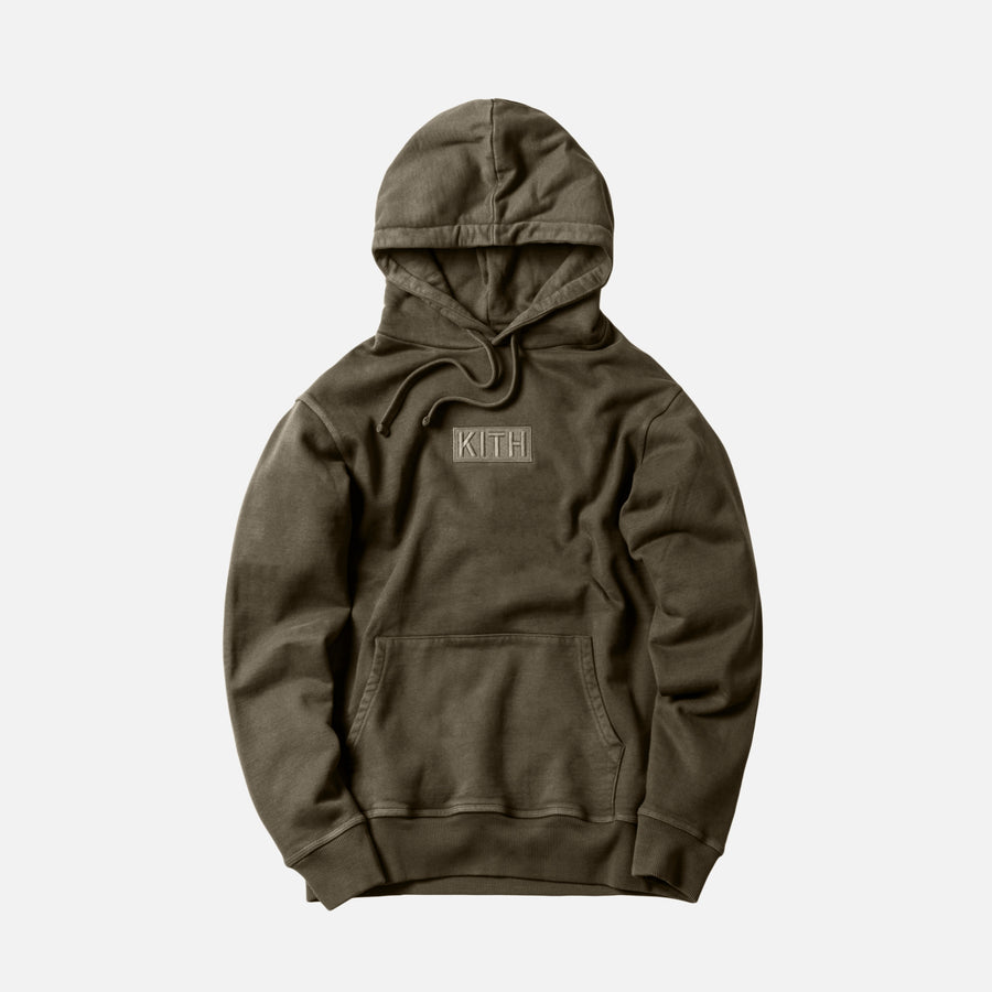 Kith Classic Logo Hoodie - Olive