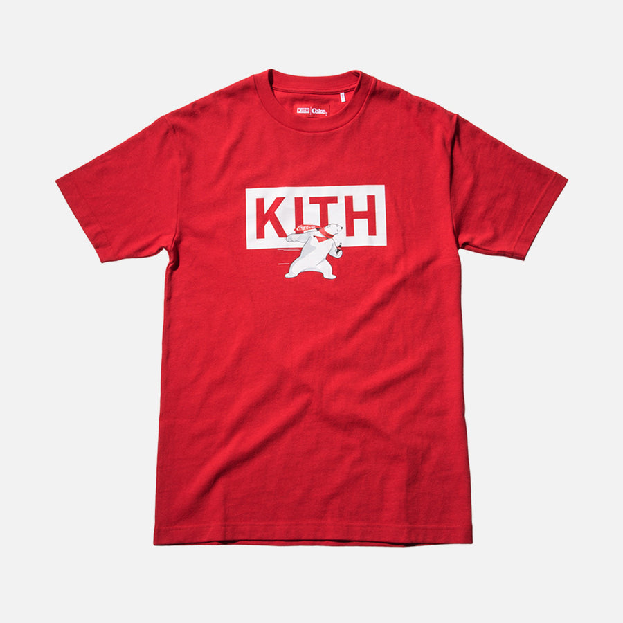 Kith x Coca-Cola Polar Bear Tee - Red