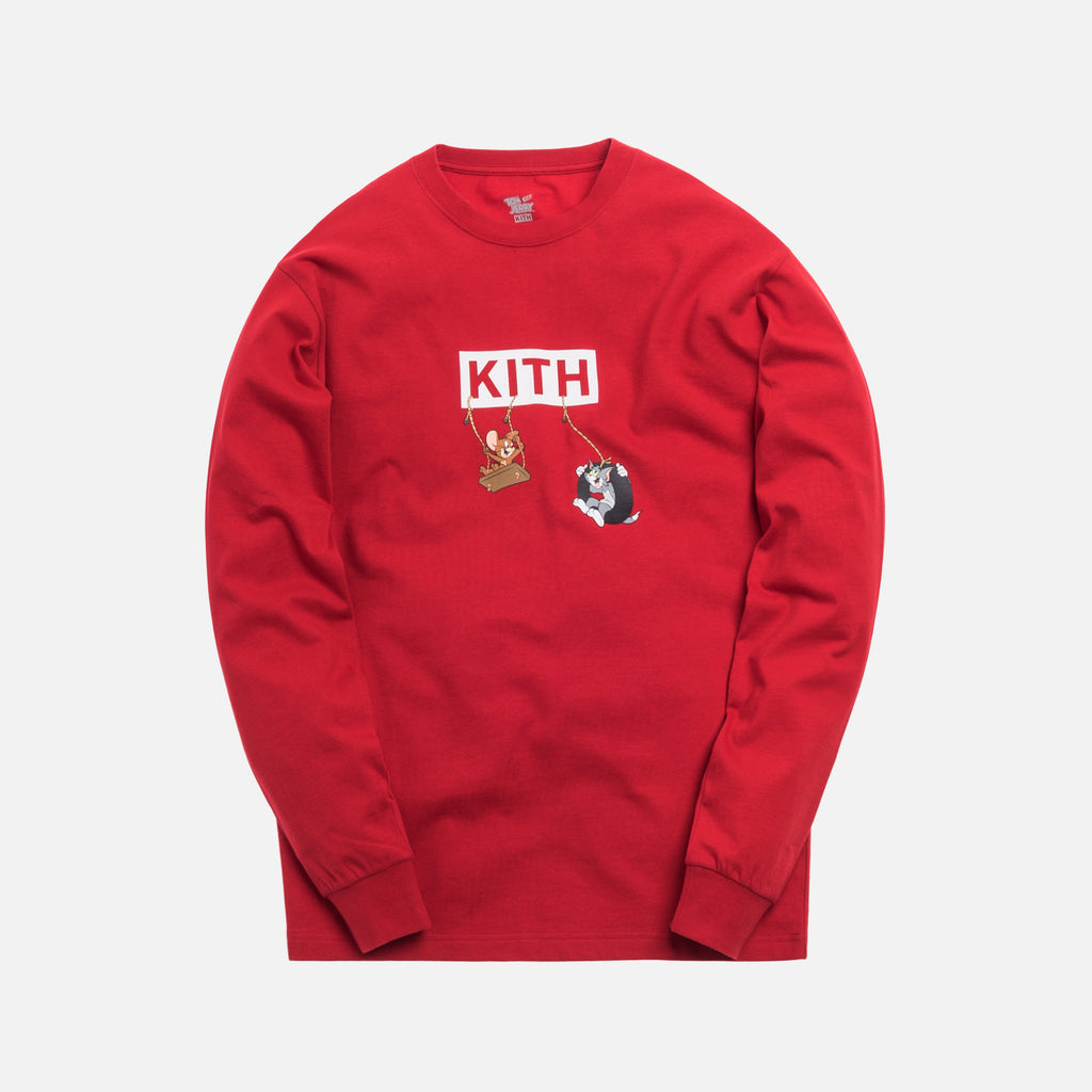 Kith x Tom & Jerry L/S Friends Tee - Red