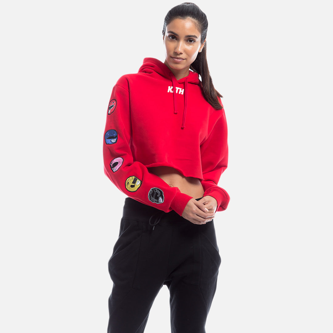 Kith x Power Rangers Cropped Hoodie - Red