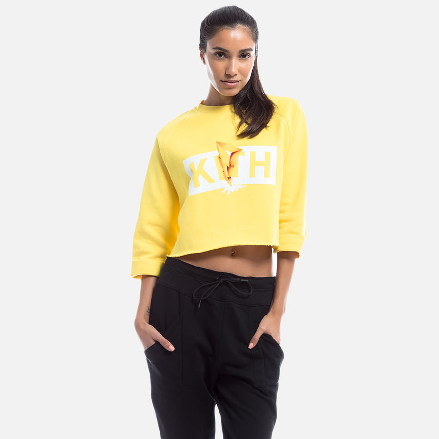 Kith x Power Rangers Cropped Crewneck - Yellow