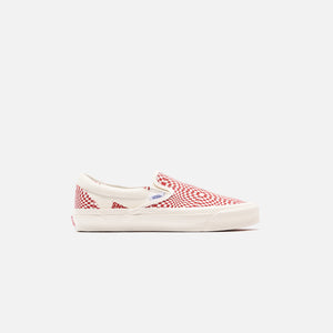 Vans OG Classic Slip-On LX - Optical Check / Racing Red / Marshmallow