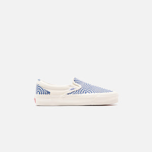 Vans OG Classic Slip-On LX - Optical Check / True Blue / Marshmallow