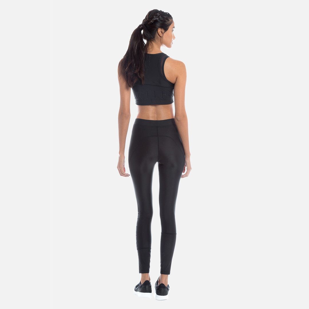 Kith Tara Half-Zip Sports Bra - Black