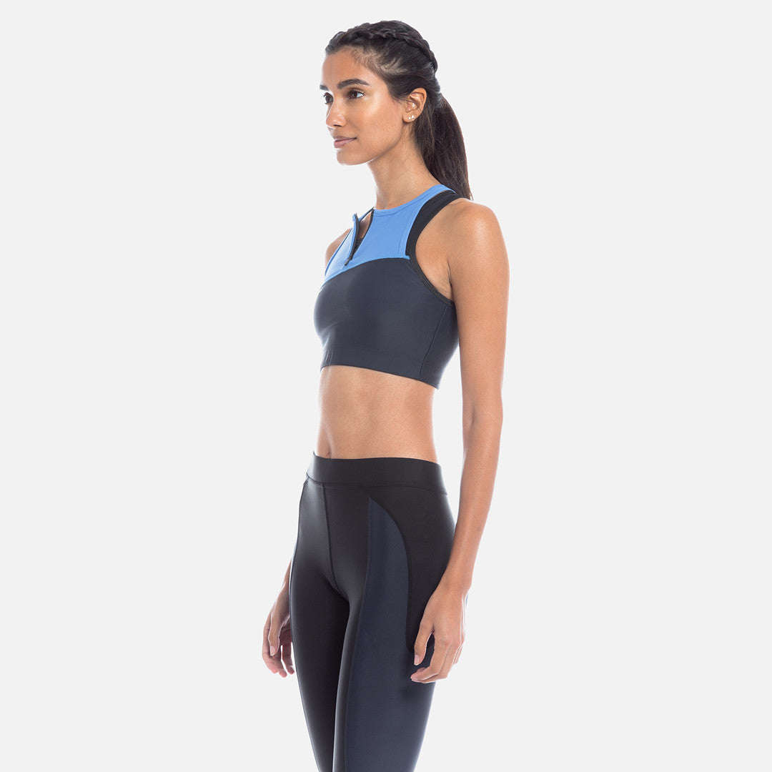 Kith Tara Half-Zip Sports Bra - Navy / Blue
