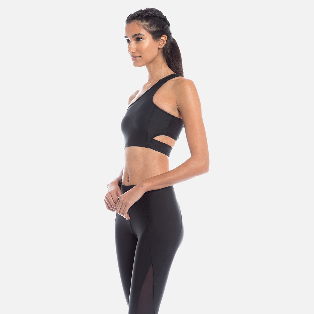 Kith Bryn Single Shoulder Sports Bra - Black