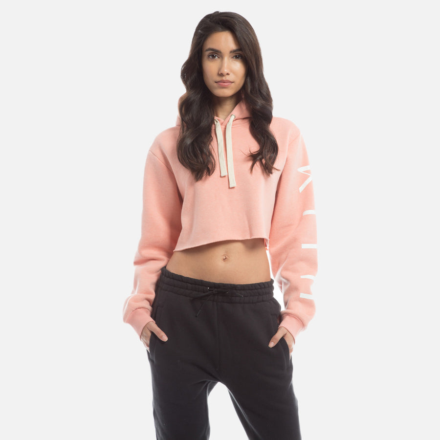 Kith Williams Cropped Hoodie - Crystal Pink