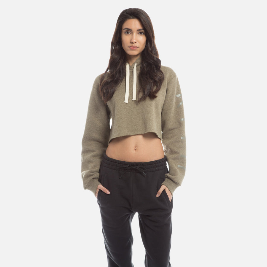 Kith Williams Cropped Hoodie - Brindle