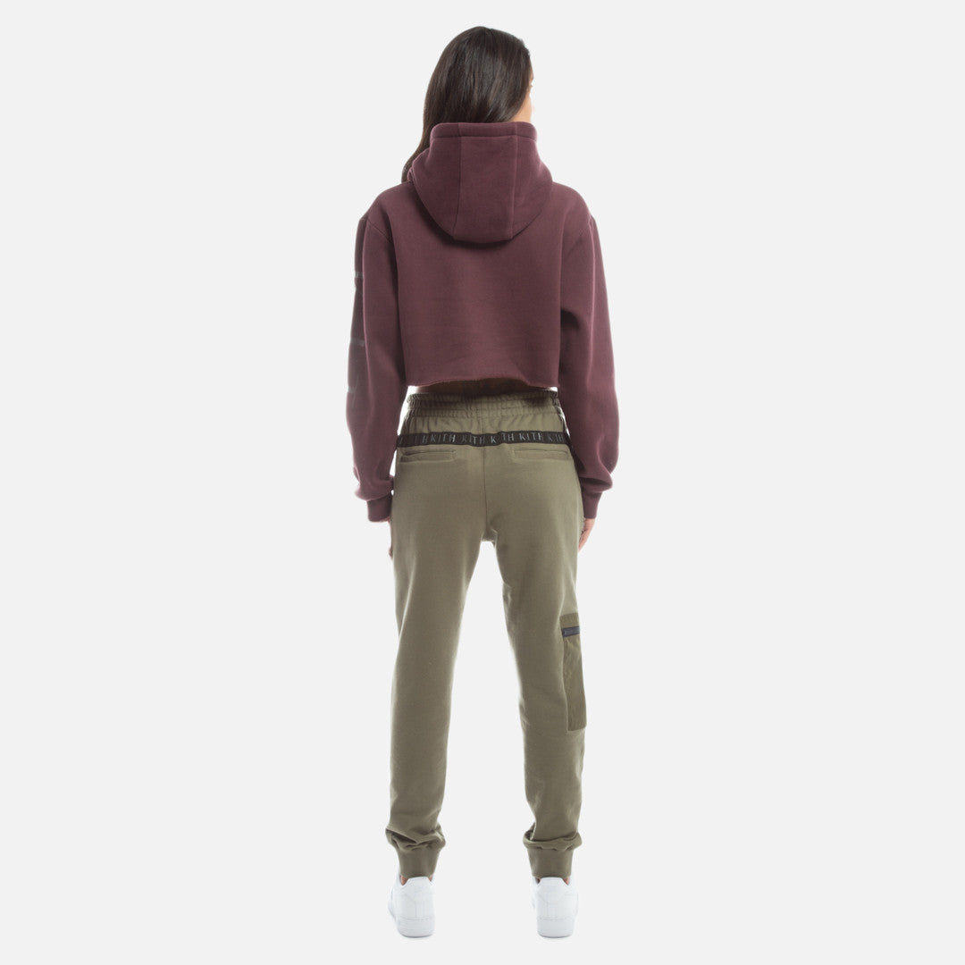 Kith Williams Cropped Hoodie - Wine