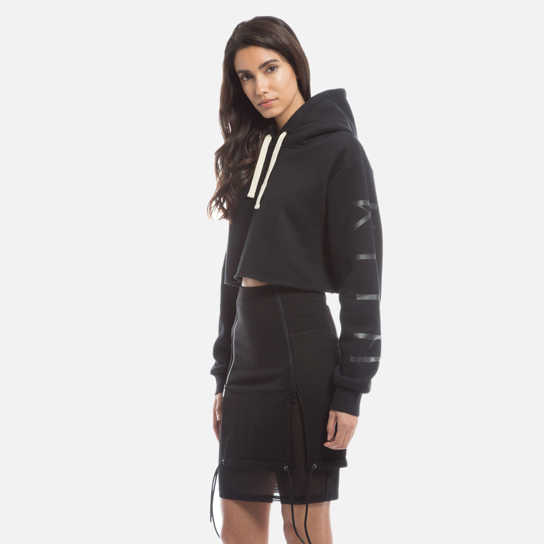 Kith Williams Cropped Hoodie - Black