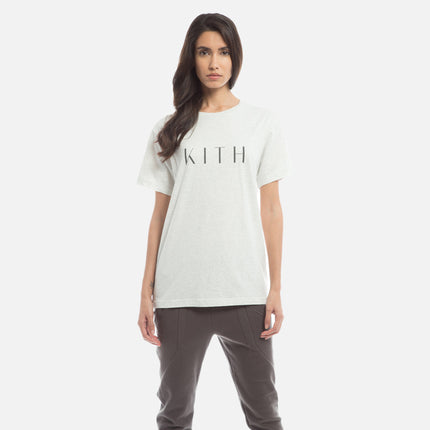Kith Logo Tee - Heather White