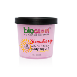 Organic Strawberry Body Yogurt with SPF 20 - 200ml - Landing page
