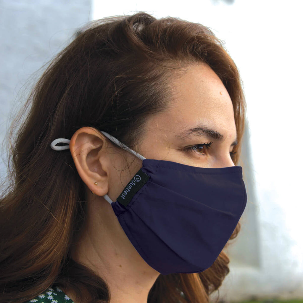 Duebest Navy Blue Reusable Face Mask