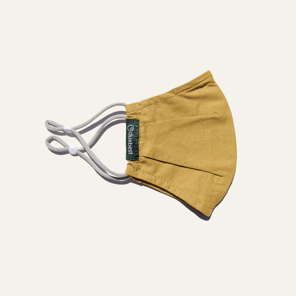 Duebest Mustard Yellow Reusable Face Mask