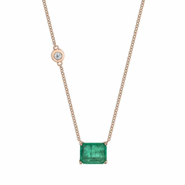 EMERALD PENDANT NECKLACE