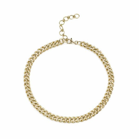 SOLID GOLD MINI LINK NECKLACE