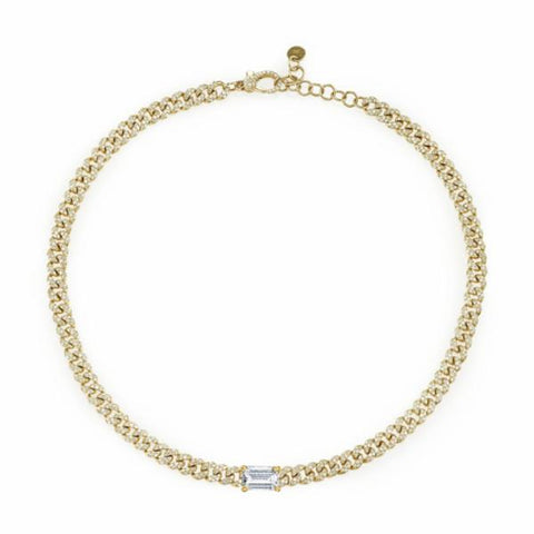 BABY LINK PAVE NECKLACE