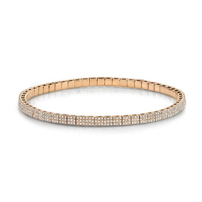 DIAMOND PAVE SQUARE STRETCH BRACELET