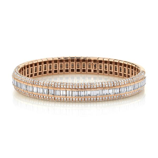 PAVE SCALES STRETCH BRACELET